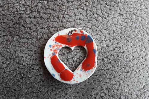 Pendentif en porcelaine  émaillé