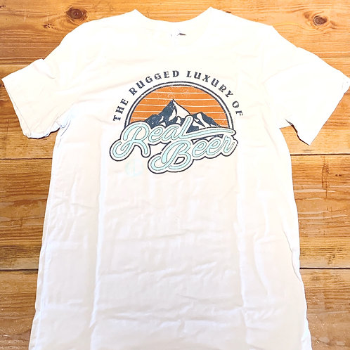 White Rugged Luxury Graphic Tee