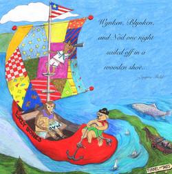 Illustration for postcard
