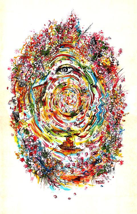 """Eye Blossom""  10 x 15 inch giclee print"