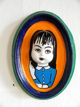 Girl in Oval by Imaginary Duck - 16.5x12cm