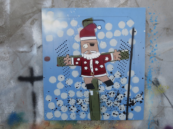 Santa Kufsonim on Metal by Sened 40x40cm