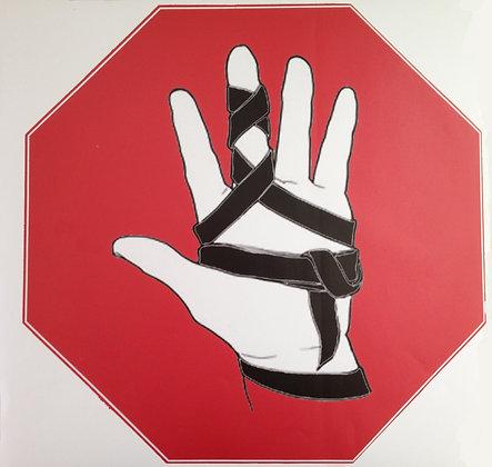 Tefillin Stop Sign Sticker - Vinyl - 50cm