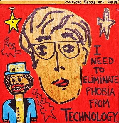 Technology by Murielle Street Art 40x40cm