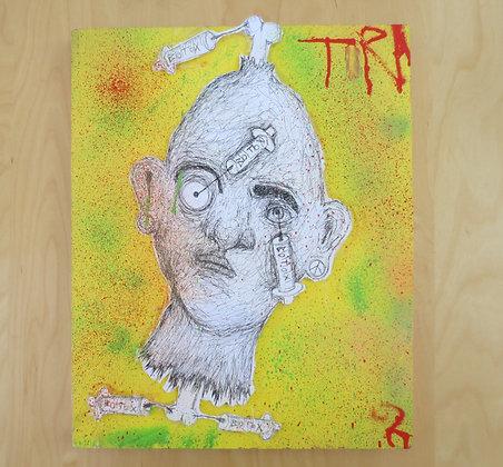 TRA ART on Wood 34x42cm