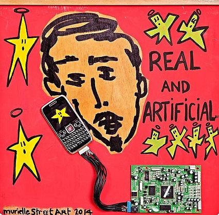 Technology by Murielle Street Art 55x55cm