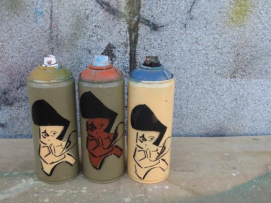 Set of 3 Kufsonim Elvis Spray Cans by Sened