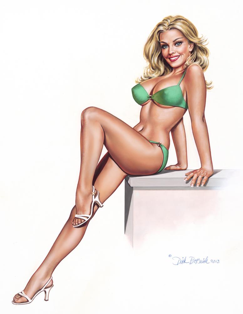 Girl In Green Bikini