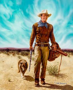 John Wayne and Pal