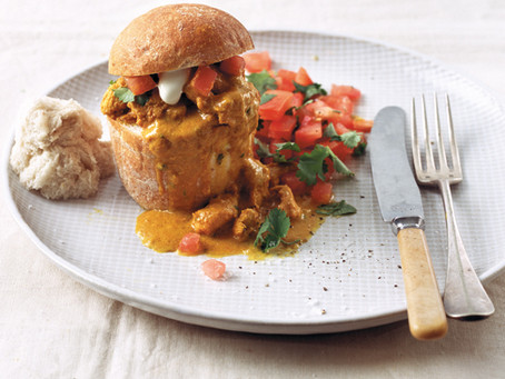 BUTTER CHICKEN BUNNY CHOW