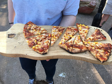 A veggie supreme stone baked pizza!
