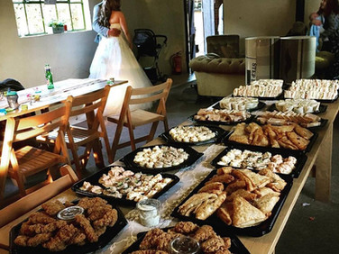 A cold buffet at a lovely country wedding earlier this year.
