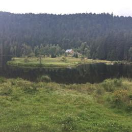 Hütte am kleinen Arbersee