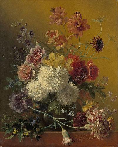 Stilleven met bloemen, Georgius Jacobus Johannes van Os