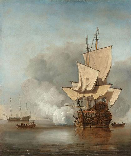 Het kanonschot, Willem van de Velde