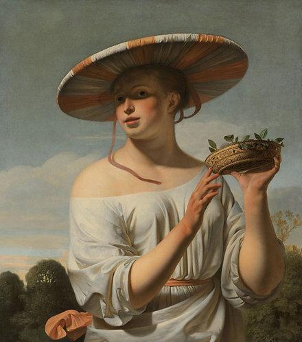 Meisje met een brede hoed, Caesar Boëtius van Everdingen
