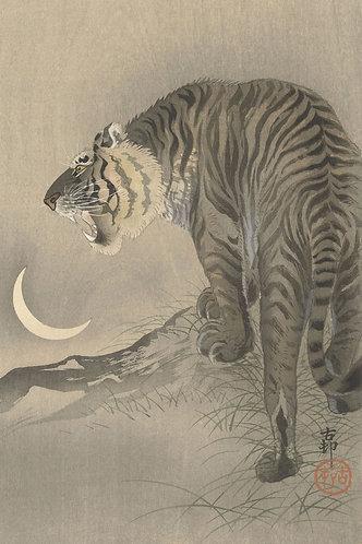 Brullende tijger- Ohara Koson