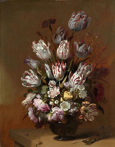 Stilleven met bloemen, Hans Bollongier