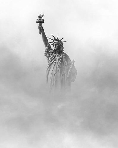 Misty Statue of Liberty, New York