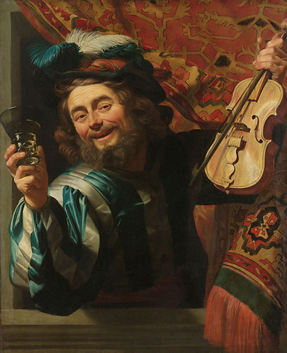 Een vrolijke vioolspeler - Gerard van Honthorst