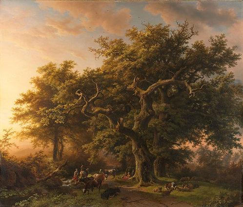 Bosgezicht - Barend Cornelis Koekkoek