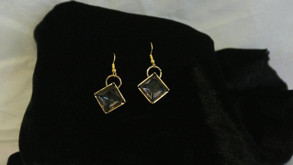 Smokey quartz glass square