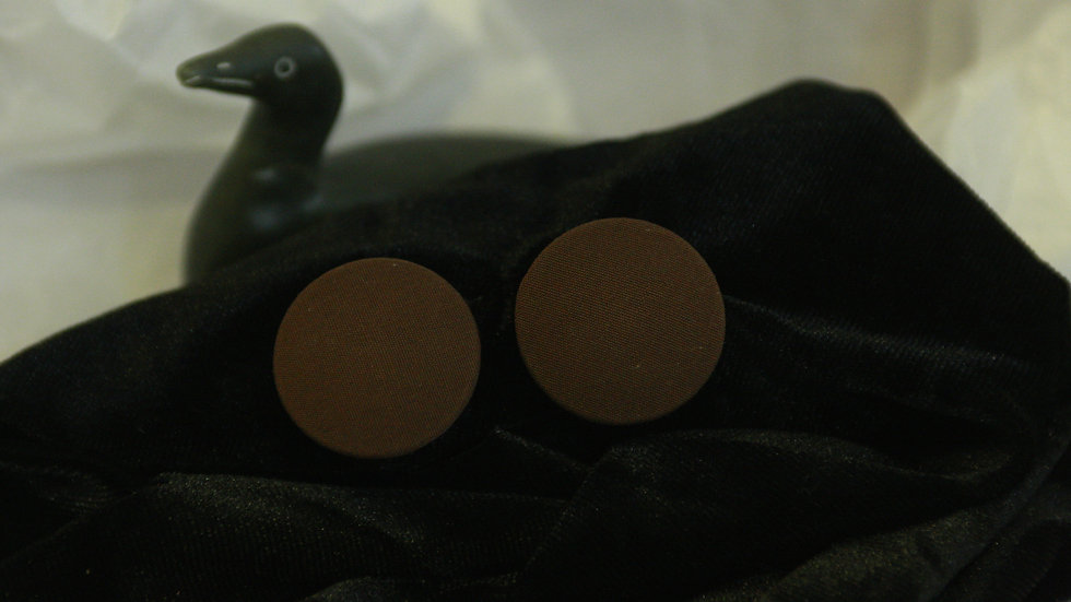 Large Brown Button