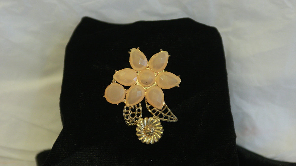Peach flower burst Brooch