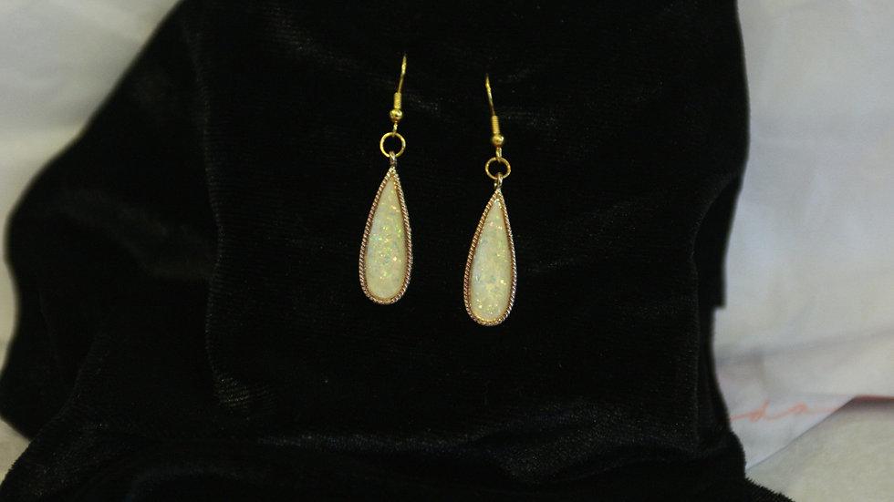 Faux opal drops