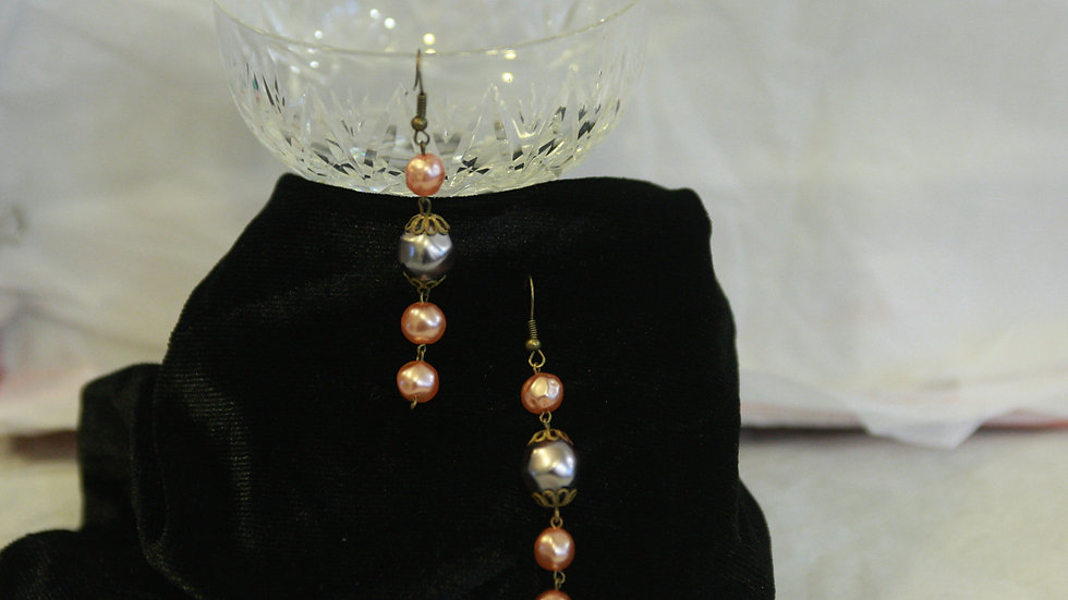Purple and champagne coloured beads