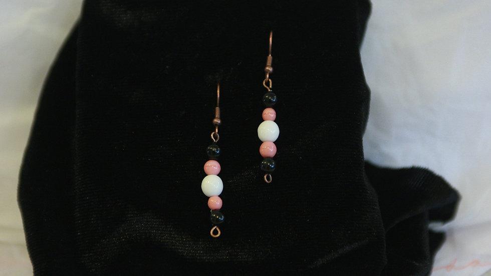 A  5 bead drop earring