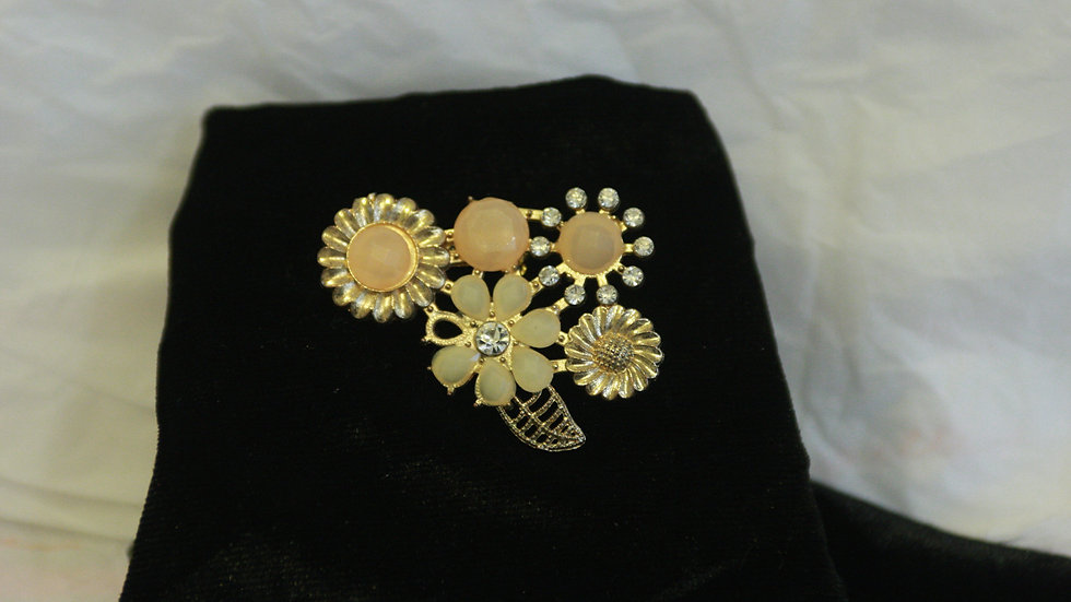 Large but delicate eclectic brooch