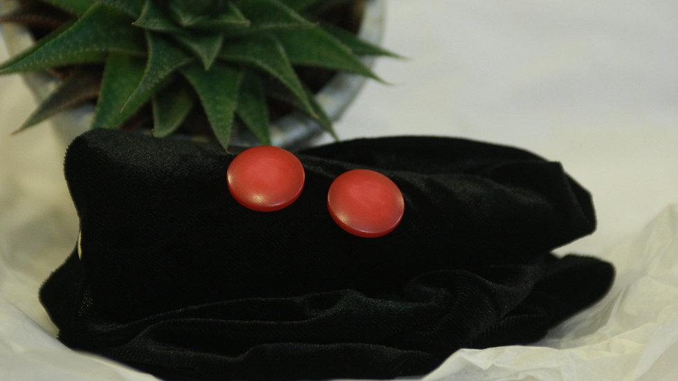 Rose pink button studs