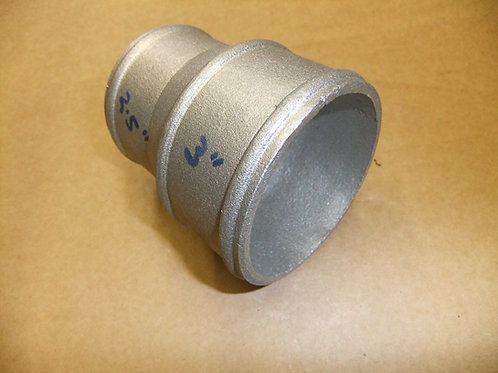 "Cast alloy reducer 2.5"" to 3"" O/D"
