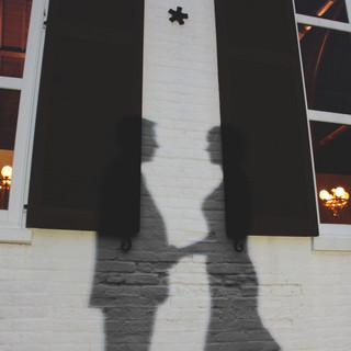 Pensacola Florida Silhouette Black and White Wedding Photography