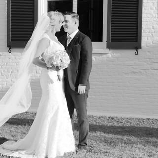Old Christ Church Pensacola Florida Wedding Photography Black and White