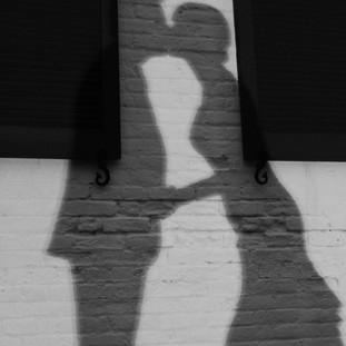 Silhouette Kissing Old Christ Church Pensacola Florida Wedding Photographer
