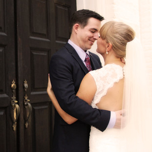 Downtown Pensacola Wedding Bride and Groom