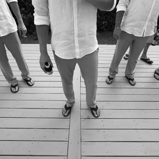 groomsmen in black and white at carillon wedding photographer