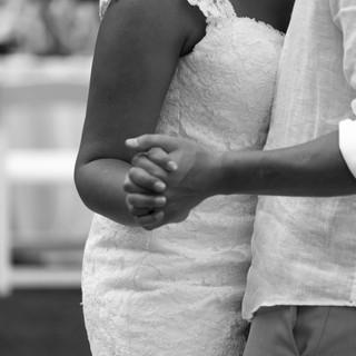 black and white first dance wedding photographer carillon florida