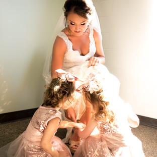 Bride and Flower Girls Navarre Florida Wedding Photography