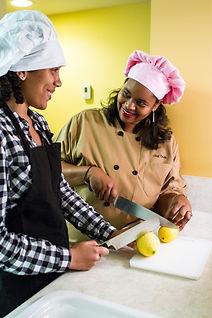 Chef Tesia teaches