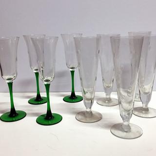 cocktail and champagne glassware, stemware