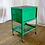 Thumbnail: Green Metal Rolling Cart