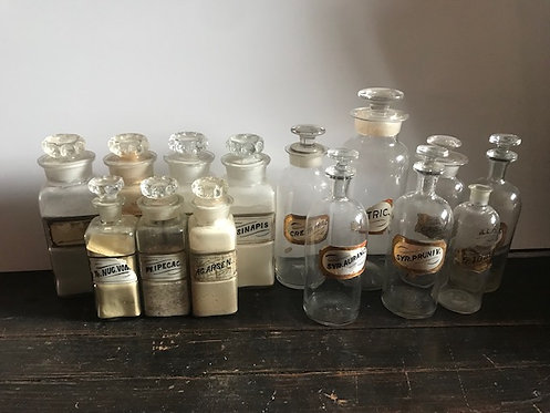 Apothecary Jars with Stoppers