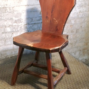 1 in stock  Octagonal armless wooden chair