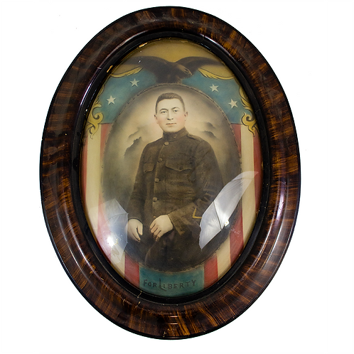 Oval Frame Portrait of a Soldier