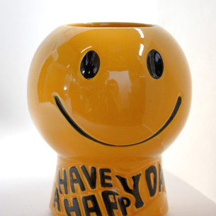 """smiley face vase. """"Have A Happy Day"""""""