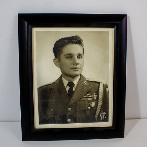 Framed Portrait of a Young Soldier