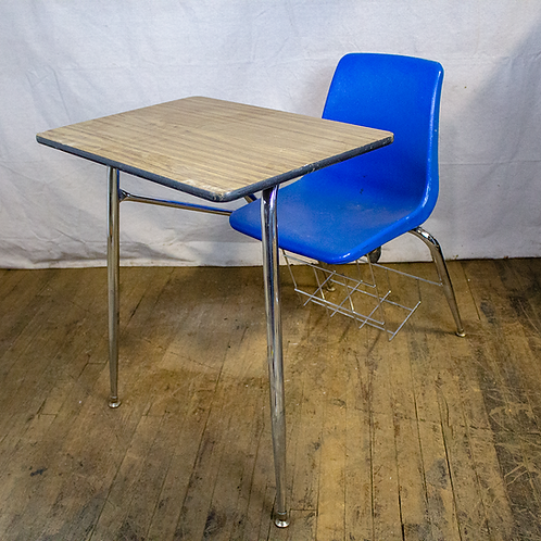 Student Desk with Chair Attached
